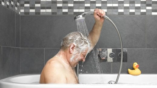 Is there a proper way to shower?